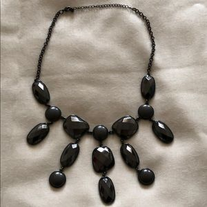 Grey black pewter accent necklace great condition